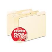 CutLess File Folders, 1/3 Cut Top Tab, Letter, Manila, 100/Box