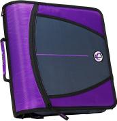 Case-it Large Capacity 7.6cm Zipper Binder, Purple, D-146-PUR