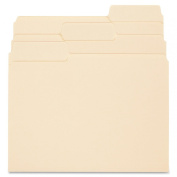 SuperTab Guide Height Reinforced Folders, Top Tab, Letter, Manila, 100/Box - SMD10395