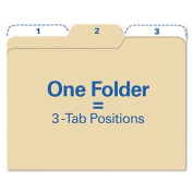 find It FT07046 - Findit File Folders, 1/3 Cut, 11 Point Stock, Letter, Manila, 80/Pack-IDEFT07046