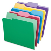 File Folders, Erasable Tabs, 1/3 Cut Top Tab, Letter, Assorted, 30/Pack