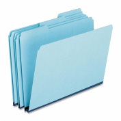 Pressboard Expanding File Folders, 1/3 Cut Top Tab, Letter, Blue, 25/Box