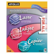 o Apollo c/o Acco World o - All-Purpose Transparency Film, 20cm - 1.3cm x 28cm , 50/BX