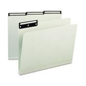 One Inch Expansion Metal Tab Folder, 1/3 Tab, Letter, Grey Green, 25/Box