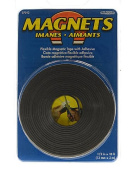 The Magnet Source Flexible Magnetic Strips with Adhesive 1.3cm . x 10 ft. [PACK OF 4 ]