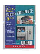 Magtech Magnetic Photo Pockets 6.4cm . x 8.9cm . pack of 3 [PACK OF 12 ]