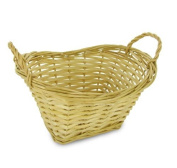 Oval Willow Mini Wash Basket - Light Finish