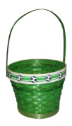 Round Soccer Green Basket with Handles