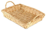 Rectangular White Willow Tray 6 to 10 items