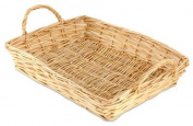 Rectangular White Willow Tray 6 to 10 items