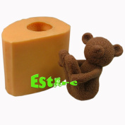 Silicone Candle Mould DIY 3D Bear Mould S0464
