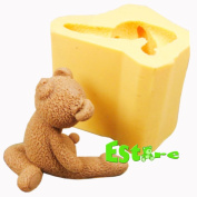 Silicone Candle Mould DIY 3D Bear Mould S0467