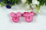 Chris's Home 2 Pcs/set,cookie Cutter 3d Mickey Mouse Animal Cake Mould, Vegetable Mould, Cake Cutter, Baking Mould Diy