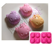SET OF TWO Silicone HELLO KITTY candy and dessert moulds Pans - By POLYMEROSE T.M.
