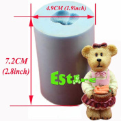 Silicone Candle Mould DIY 3D Bear Mould S0757