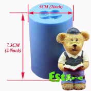 Silicone Candle Mould DIY 3D Bear Mould S0754