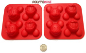 SET of TWO MICKEY MOUSE Moulds Pans for Crafts and for Pastry