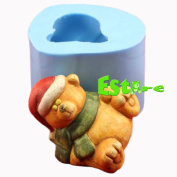 Silicone Candle Mould DIY 3D Bear Mould S0750