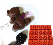 20 Cavity SMALL BEARS Mould Pan for Baking or Crafts. Silicone by Polymerose T.M.