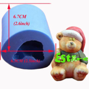 Silicone Candle Mould DIY 3D Bear Mould S0749