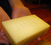 Hansi Organics WHITE WAX 1 pound BLOCK of pure white beeswax -STAMPED- BEESWAX from Hansi!