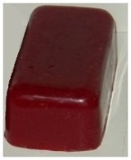 Hansi Organics RED WAX 1lb BLOCK marked BEESWAX in the block Red Candle Wax