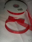 Organza 1.6cm Ribbon 50 Yards Red