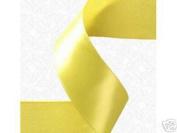 1.6cm x 100 yds Single Face Satin ribbon- YELLOW