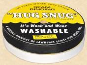 "Hug Snug Seam Binding 100-yds Roll ½"" Wide Hug Snug ~ White ~ 100 Percentage Woven-edge Rayon ~ Wash 'N Wear ~ Made in USA"