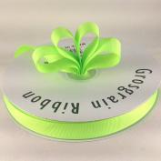 1.6cm Neon Green Grosgrain Ribbon 50 Yards Spool Solid Colour.