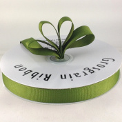1.6cm Willow/Moss Green Grosgrain Ribbon 50 Yards Spool Solid Colour.