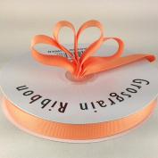 1.6cm Light Peach Grosgrain Ribbon 50 Yards Spool Solid Colour.
