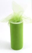 Kel-Toy Tulle Ribbon, 15cm by 25-Yard, Apple Green