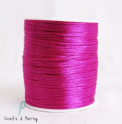 Fuchsia 2mm x 100 yards Rattail Satin Nylon Trim Cord Chinese Knot