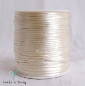 Ivory 2mm x 100 yards Rattail Satin Nylon Trim Cord Chinese Knot