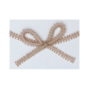 Beige Picot Braid Ribbon 8MM X 25 Yds Spool
