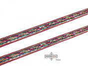 Indian Sari Border Magenta Craft Fabric Saree Lace Recycled Fabric New Ribbon Sewing Trim 1 Yard.