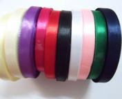 3x 25 Yards 10mm Sheer Mix Colour Organza Satin Ribbon Sewing Decorate Tool Diy