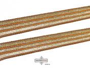 . Golden Ribbon Garment Fabric Trim Braided Stripe Apparel Sari Border Lace 1 Yd