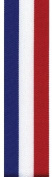 Berwick Double Faced Red, White , and Blue Striped Ribbon - 7.6cm X 50 Yards- Waterproof Polyprolene