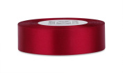 2.5cm Double Faced Satin Ribbon - Garnet