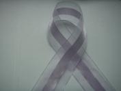 Lavender Organza and Satin Ribbon 3.8cm Wide 25 Yards
