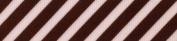 Venus Ribbon V15681-0R4 2.2cm Stripes Grosgrain Ribbon, Light Pink/Brown, 5-Yard