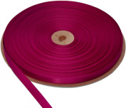 0.6cm Ribbon #244 Single Face Polyester Satin ~ 408 Fuchsia Made in USA