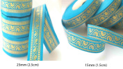 Neotrims Salwar Kameez Indian Sari Paisley Ribbons for Crafts 2 Size Combination. Stunning Paisley Trimming Ribbon in a combination sizes of 1.5cms and 2.5cms widths. Can be used single or combined both together as a set. It's a real traditional and ve ..
