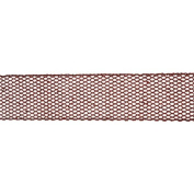 Red Glitter Mesh Wired Christmas Craft Ribbon 6.4cm x 10 Yards