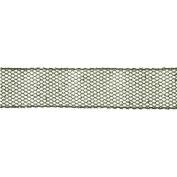 Green Glitter Mesh Wired Craft Ribbon 6.4cm x 10 Yards