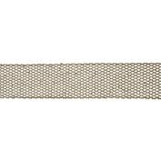 Gold Glitter Mesh Wired Craft Ribbon 6.4cm x 10 Yards