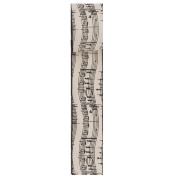 Kurt Adler 6.4cm x 10 Yards Musical Notes Wire Woven Ribbon