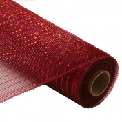 Metallic 'Red' Polymesh Ribbon - 30 Ft. Long x 50cm Wide